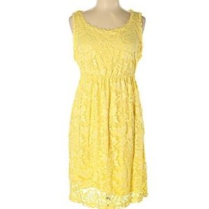 🆕️CHELSEA & VIOLET Yellow Lace Cocktail Dress SM